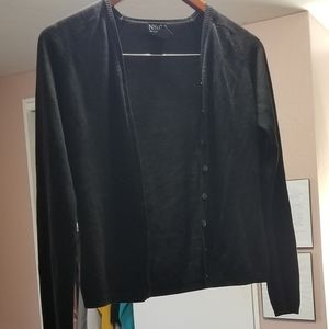 3/$10 NY & CO Black button up cardigan